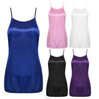 Sexy Women's Satin Lingerie Sleepwear Babydoll Nightdress Nightwear Slik Chemise