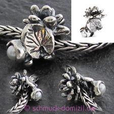 TROLLBEADS Silberbead Seerosen - Juli - Water Lily - July - TAGBE-00033
