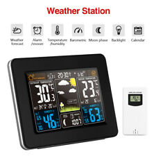 Digital Wireless Weather Station Clock Calendar Temperature Sensor Large Display