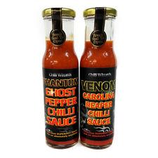 Chilli Sauce - Venom & Phantom Carolina Reaper + Ghost Pepper Superhot Sauce Set