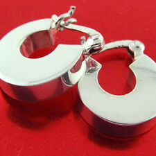 Sterling Silver Ladies Italian Design Hoop Earrings Genuine Real Hallmarked 925