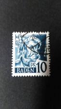 FRANCE 1947 OCCUPATION ALLEMAGNE BADE timbre 3 BALDUNG GRIEN oblitéré, VF STAMP