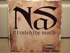 """NAS + LAURYN HILL - IF I RULED THE WORLD (12"""") 1996!!!  RARE!!!  TRACKMASTERS!!!"""