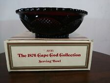 Avon The 1876 Cape Cod Collection Ruby Red Vintage 1986 serving bowl