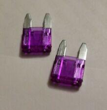 2 Qty. Atm 3A Mini Blade Automotive Fuse 3 Amp 3amp Violet