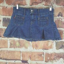 Levis Womens Denim Skirt Superlow 518 Size 3 Juniors Flared Mini
