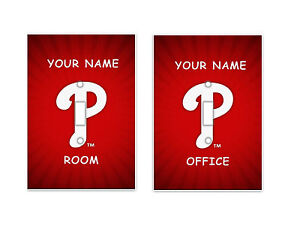 PERSONALIZED Philadelphia Phillies Light Switch Covers MLB Baseball Home Decor