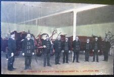 APPLETON WI~1900's INTERIOR FIRE DEPARTMENT NO. 1  ~ FIRE FIGHTERS ~ Wagons  ~