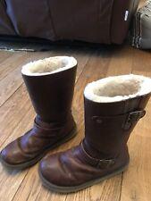 Genuine Ugg Kensington Brown Boots Sz Uk 5.5