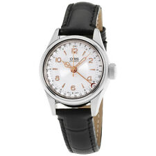 Oris Big Crown Silver Dial Leather Strap Ladies Watch 59476954061LS