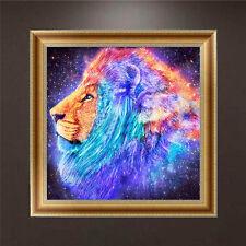 DIY 5D Diamant Broderie Peinture Animal Lion Point de croix Craft Accueil Décor