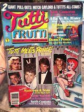 Tutti Frutti Magazine Oct 1986: Prince, Madonna, Bateman, Cameron, Fox, A-Ha