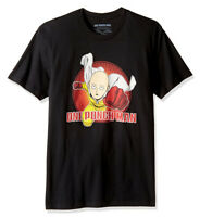 ANIME One Punch Man SAITAMA PUNCHING FLYING T-Shirt NWT 100% Authentic