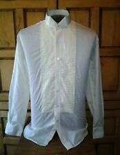 """After Six Tuxedo Shirt Wing Tip Pleated Front Ivory-Off White 15 1/2"""" x 32/33"""