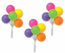 Neon Colors Balloon Cake Topper Cluster - 4 Count