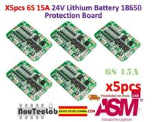 5pcs 6S 15A 24V PCB BMS Protection Board For 6 Pack 18650 Li-ion Lithium Battery