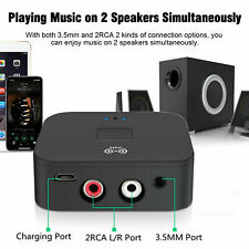 Receptor Sem Fio Bluetooth 5.0 3.5mm Jack Aux Near Field Communication para 2 Rca Adaptador De Áudio Estéreo