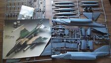 Testors 1/48 F-4F/G Wild Weasel Phantom Model Kit 1990 No Box or Instructions