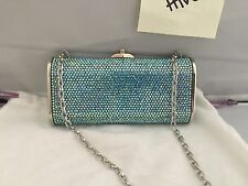NEW 100% AUTHENTIC JUDITH LEIBER SEAMIST IRIDESCENT CRYSTAL CLUTCH