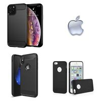 Cover Armor Carbon Nera Per Apple Iphone 5 5s SE SE20 6 6s 7 8 Plus X XS XR Max