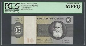 Brazil 10 Cruzeiros ND (1980) P193e Uncirculated Graded 67