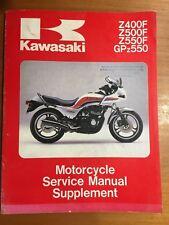 Kawasaki Z400F,Z500F,Z550F,GPz550 Service Manual Supplement 83-84 #99924-1040-02