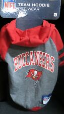 "NFL Tampa Bay Bucs Hoodie Dog Shi NEW! Small,9""x 12"", Red Black Official NFL"