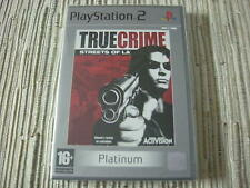 TRUE CRIME STREETS OF L.A PLATINUM PLAYSTATION 2 PS 2 NUEVO Y PRECINTADO