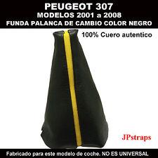 PEUGEOT 307 FUNDA PARA PALANCA DE CAMBIOS DE 2001 A 2008 CON FRANJA AMARILLA