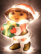 NICKELODEON DORA THE EXPLORER PRE-LIT WINDOW DECORATION HOLIDAY LIGHT DECOR
