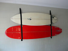SURFBOARD GARAGE STORAGE RACK / STRAP SYSTEM Holds 4 Boards