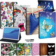 Funda de Estuche con Funda y base de cuero-Fit Huawei MediaPad T3 8.0/T3 10/T5 10 Tablet