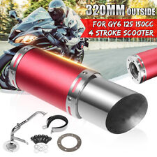 4 Stroke Scooter Short Performance Exhaust System For GY6 125cc 150cc Scooter