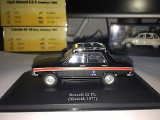 Taxi Cab - Renault 12 TL - Madrid / Spain license plates