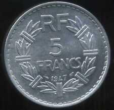 5 francs LAVRILLIER 1947   (  le 9 fermé  ) ( SUP +  )  ( bis )