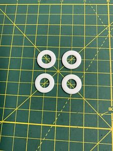 """TEFLON (PTFE) WASHER 3/4"""" OD X 3/8"""" ID X 1/16"""" THICK SPACER (4 PIECES IN A LOT)."""