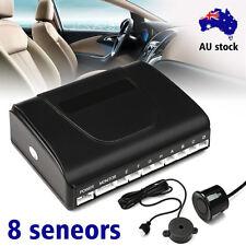 Car 8 Parking Sensor Rear View Reverse Backup Front & Rear Radar System Kit Set