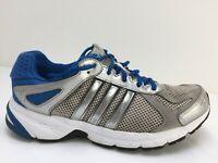 Adidas Grey Mesh Knit Trainers Gym Sports Running Shoe Men Size UK 7