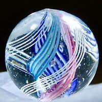 """Vintage Antique German Double Lattice 4 Color Marble Mint Marble .72"""" #29"""