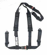 """ANiKi Dynamics 2"""" Strap Black 3-Point Sport Racing Harness with 3"""" Shoulder Pads"""