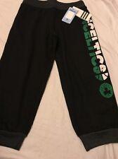 Le ragazze della gioventù ADIDAS Boston Celtics Kelly Green BIADESIVO MEDAGLIA Glitter Pantaloni