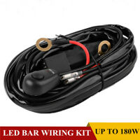 LED Light Bar Wiring Harness Kit 12V 40Amp 16AWG Fuse Relay ON/OFF Switch