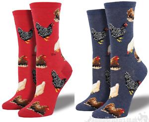 Womens Socksmith Hen design socks One Size Chicken lover gift stocking filler