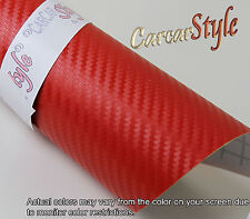 3D Carbon Fibre Vinyl 100mm(3.9in)x 1520mm(59.8in) Wrap Film Sticker Bubble Free