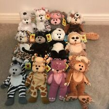 SKANSEN BEANIE KIDS BEARS, BULK SALE ANIMAL THEMED x 12, WITH TAGS
