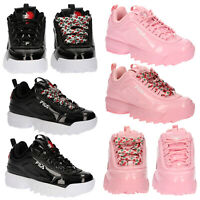 FILA Womens Heart Disruptor II Trainers Fashion Casual Walking Running Sneakers