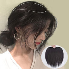 Women Straight Thicken Hairpiece Clip In Extensions Fluffy Invisible Human Hair