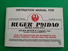 Original Ruger P91 Dao Double Action Autoloading Pistol Instruction Manual