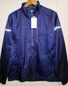 Robert Graham Full Zip-Up Wind Jacket Mens XL NWT Navy Blue