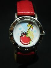 Tinkerbell Disney Watch  roman numeral / red leather band/new battery